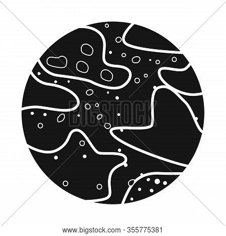 Vector Illustration Of Pluto And Nasa Sign. Web Element Of Pluto And Nebula Stock Vector Illustratio