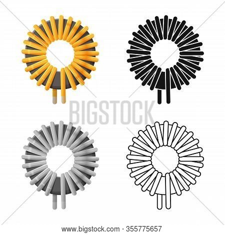 Vector Illustration Of Coil And Steel Logo. Web Element Of Coil And Curve Vector Icon For Stock.