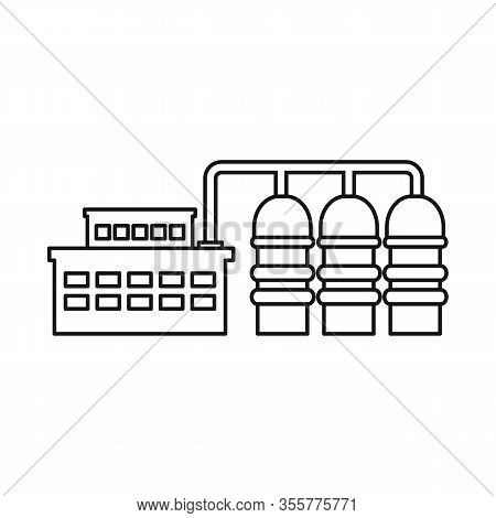 Isolated Object Of Manufactory And Powerhouse Icon. Set Of Manufactory And Urban Stock Vector Illust