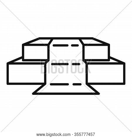 Celebrity Podium Icon. Outline Celebrity Podium Vector Icon For Web Design Isolated On White Backgro