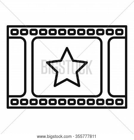 Famous Film Icon. Outline Famous Film Vector Icon For Web Design Isolated On White Background