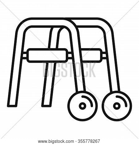 Metal Walker Icon. Outline Metal Walker Vector Icon For Web Design Isolated On White Background
