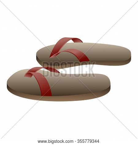 Vietnam Slippers Icon. Cartoon Of Vietnam Slippers Vector Icon For Web Design Isolated On White Back
