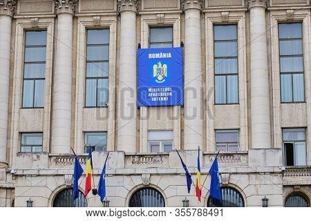 Bucharest, Romania - March 14, 2020: Ministry Of Internal Affairs Building (romanian: Ministerul Afa