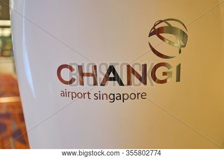 SINGAPORE - CIRCA JANUARY, 2020: close up shot of self-service check-in kiosk at Terminal 1, Changi Airport. Changi Airport is a major civilian airport that serves Singapore.