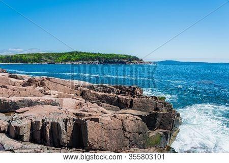 Beautiful Coast Of Acadia National Atlantic Ocean Maine Usa