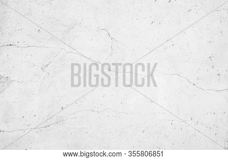 White Concrete Wall For Interior Or Outdoor Exposed Surface Polished Concrete. Cement Have Sand And