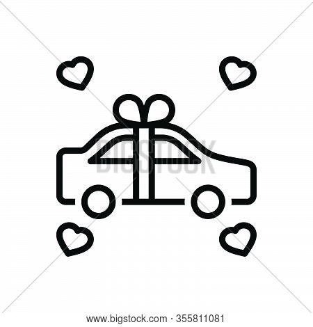 Black Line Icon For Newly Recently Surprise Just Newlywed Merely Win Car Exclusively Gift Present Ri