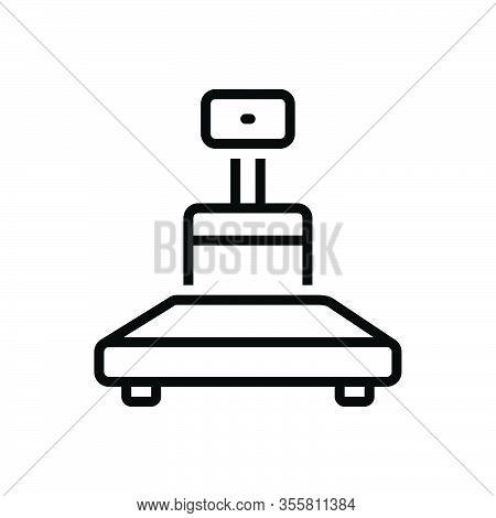 Black Line Icon For Weight Heft Meterage Ponderosity Sinker Encumbrance Stowage Heaviness