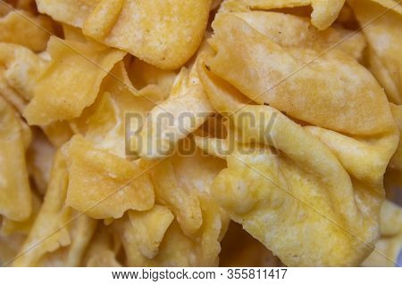 Close View Of Papdi Gathiya Which Is A Popular Indian Savoury. Indian Sweet And Savoury Prepared Dur
