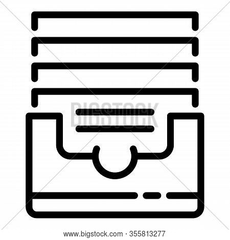 Office Folders Icon. Outline Office Folders Vector Icon For Web Design Isolated On White Background