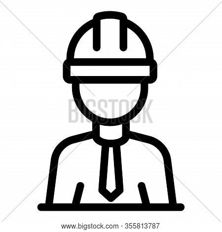Contractor Icon. Outline Contractor Vector Icon For Web Design Isolated On White Background