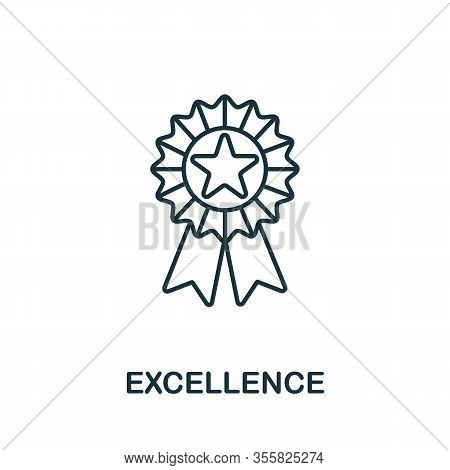 Excellence Icon From Life Skills Collection. Simple Line Excellence Icon For Templates, Web Design A