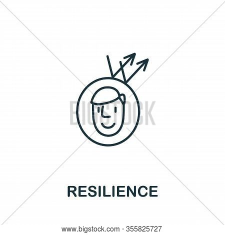 Resilience Icon From Life Skills Collection. Simple Line Resilience Icon For Templates, Web Design A