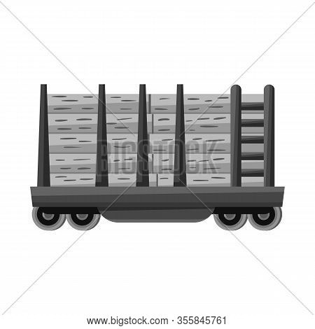 Isolated Object Of Wagon And Container Sign. Web Element Of Wagon And Transportation Stock Vector Il