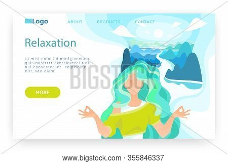 Girl Doing Meditation And Gyan Mudra Yoga With Nature On Background. Human Enlightenment Concept. Su