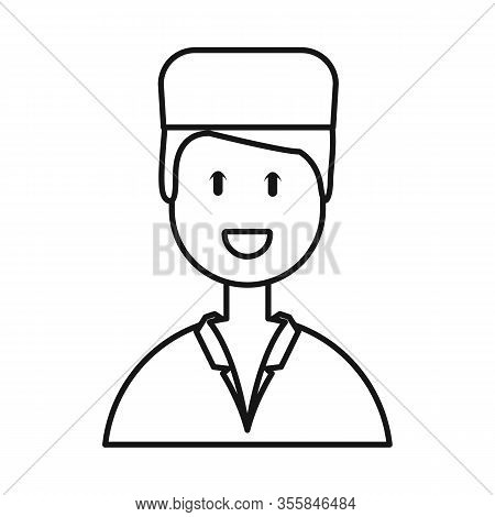 Isolated Object Of Physician And Portrait Sign. Set Of Physician And Ambulance Vector Icon For Stock