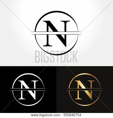 Initial Circle Letter N Logo Design Business Vector Template. Creative Abstract Letter N Logo Vector