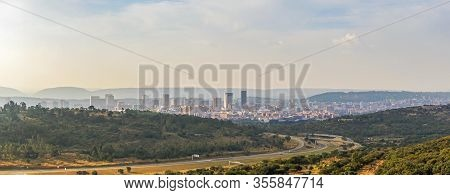 Pretoria Skyline With Road Leading Into City, South Africa