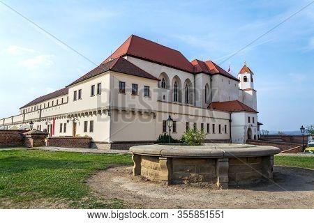 Beautiful Spilberk Castle Exterior, Brno, Southern Moravia, Czech Republic, Sunny Day