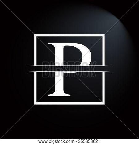 Initial Square Letter P Logo Design Business Vector Template. Creative Letter P Logo Vector