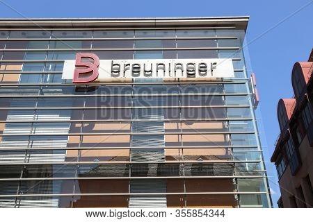 Nuremberg, Germany - May 8, 2018: Breuninger Department Store In Nuremberg, Germany. Breuninger Is A