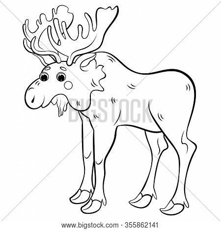 Cartoon Moose coloring pages for free. Cartoon Moose coloring ... | 470x450