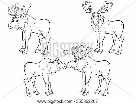 Cute Moose Coloring Pages - Get Coloring Pages | 347x450