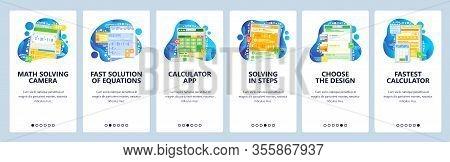Math Equation Solving Mobile Phone App. Mathematics Formula, Calculator, Equation Solution. App Scre