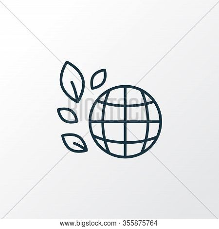Biosphere Icon Line Symbol. Premium Quality Isolated Earth Element In Trendy Style.