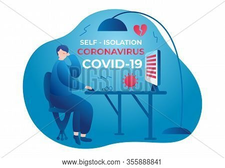 Coronavirus. Self Isolation. Home Quarantine From Covid-19. All Stay At Home. Self-isolate From A Pa