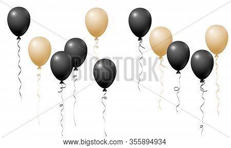 Flying Balloons Isolated Vector Illustration, Baby Shower, Birthday Party, Wedding Decoration Elemen