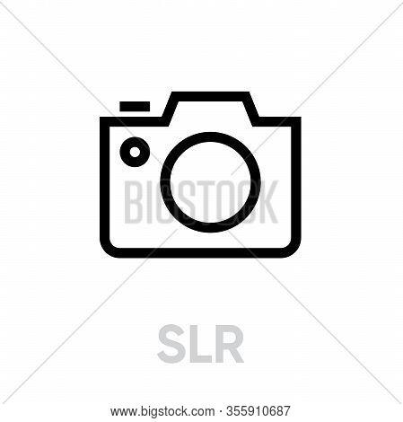 Slr Icon. Editable Vector Outline. Trendy Flat Symbol Design.