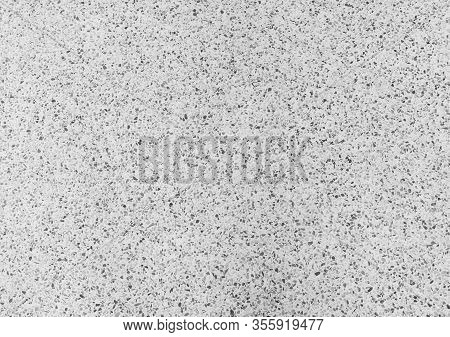 Terrazzo Floor Or Marble Beautiful Black And White Texture, Polished Stone For Background