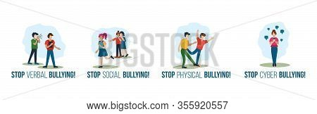 Stop Verbal Social Physical Cyber Bullying Set
