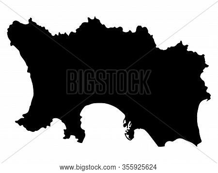Bailiwick Of Jersey Map Silhouette Vector Illustration Eps 10.