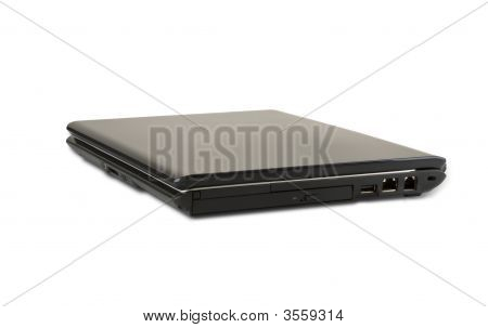 usual brand of laptop isolated on white background poster