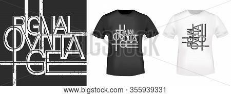 Original Vintage Line Design T-shirt Print Stamp For Tee, T Shirts Applique, Fashion Slogan, Badge,