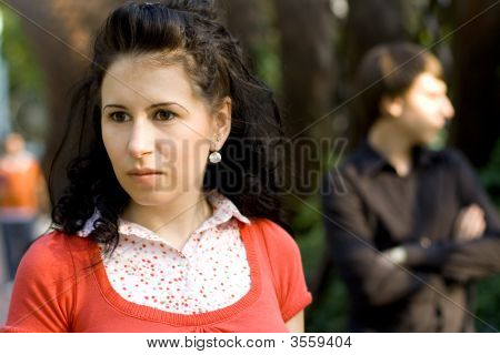 Unhappy Young Couple