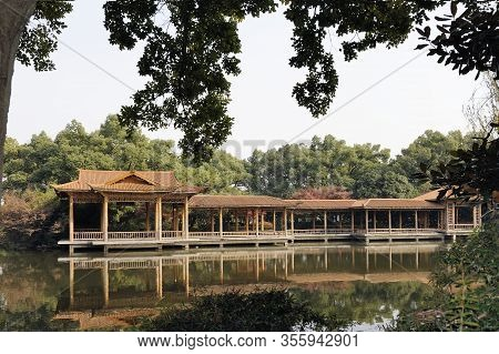 Peony Garden In West Lake Cultural Landscape Of Hangzhou, Zhejiang Province, China. This Park Is Sit
