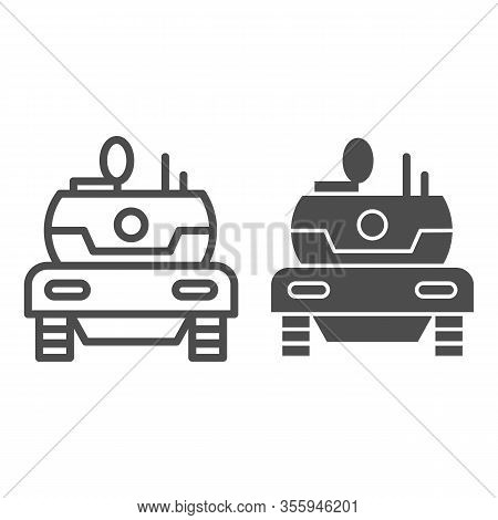 Modern Tank Line And Solid Icon. Combat Fighting And Attack War Vehicle Symbol, Outline Style Pictog