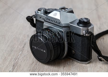 Latvija, Riga 03.16.2020: Pentax K1000 Old Wintage Camera