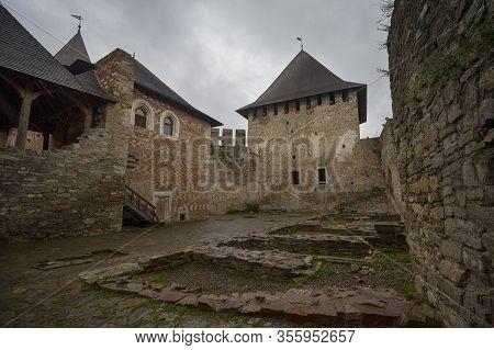 View Khotyn Fortress Complex Courtyard Pavilion. Ukraine