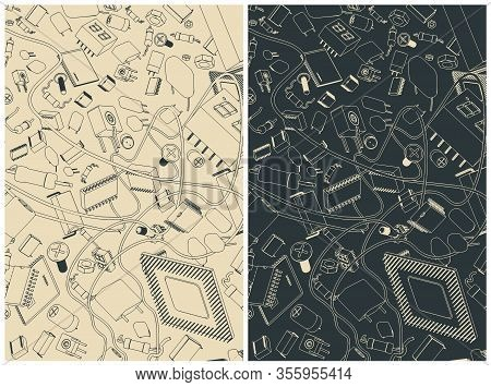 Electronic Components Illustrations