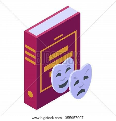 Humor Theatre Book Icon. Isometric Of Humor Theatre Book Vector Icon For Web Design Isolated On Whit