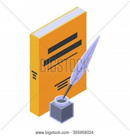 Story Novel Book Icon. Isometric Of Story Novel Book Vector Icon For Web Design Isolated On White Ba