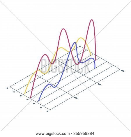 Trouble Regression Chart Icon. Isometric Of Trouble Regression Chart Vector Icon For Web Design Isol