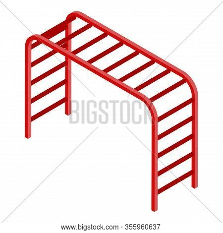 Climber Bars Icon. Isometric Of Climber Bars Vector Icon For Web Design Isolated On White Background