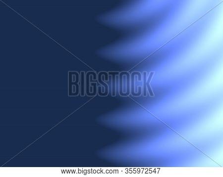Abstract Advertising, Modern Blue, Ultramarin Gradient Waves, Background,  Fluorescent Pattern  Back