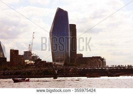 London And Its Historic And Modern Buildings Along The Thames River In Uk